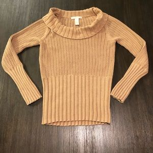 Hillard and Hanson Cowl Neck Knit Sweater